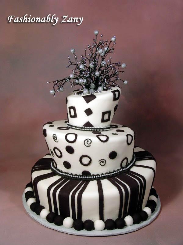 Black And White Wedding Cake 18 Beautiful Black and white elegant